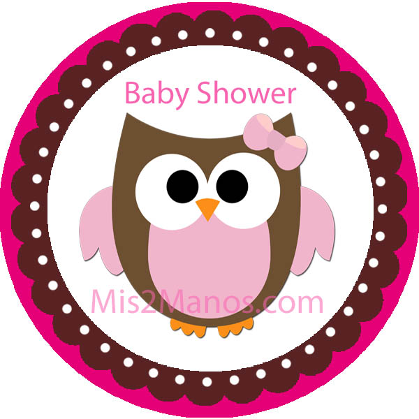 baby owl baby shower sticker labels 2 inch round party favor