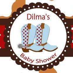 Water Bottle Label DIY -Cowboy Baby Shower Labels SET of 20